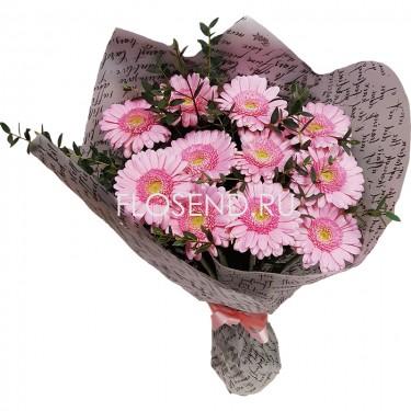 Букет из 11 розовых гербер